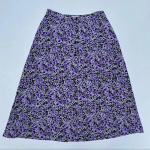 Vintage Christopher & Banks purple floral skirt